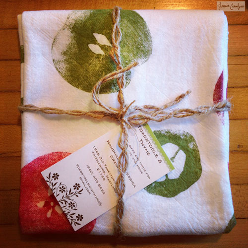 Fruit Stamped Tea Towel