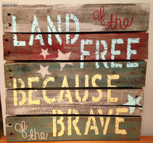 Land Of The Free Pallet Art