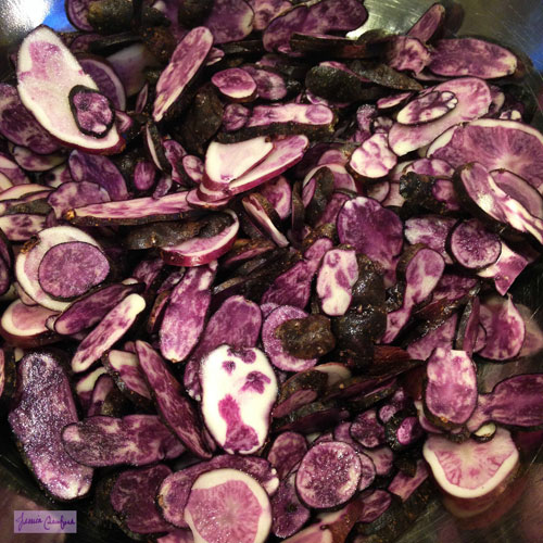 Homegrown-Purple-Peruvian-Potatoes-Prepped-for-Dehydrating