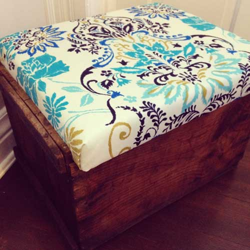 Antique-Crate-turned-into-Storage-Bin