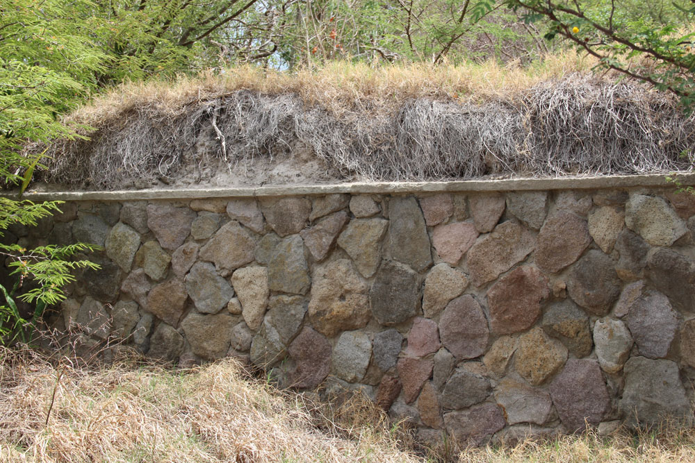 Existing Stone Wall Coverd In Ash
