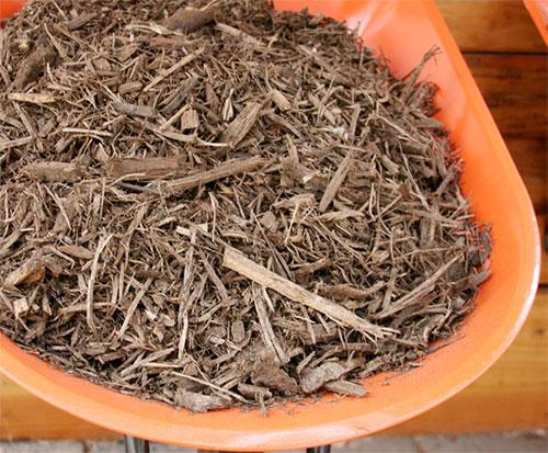 shredded hardwood mulch
