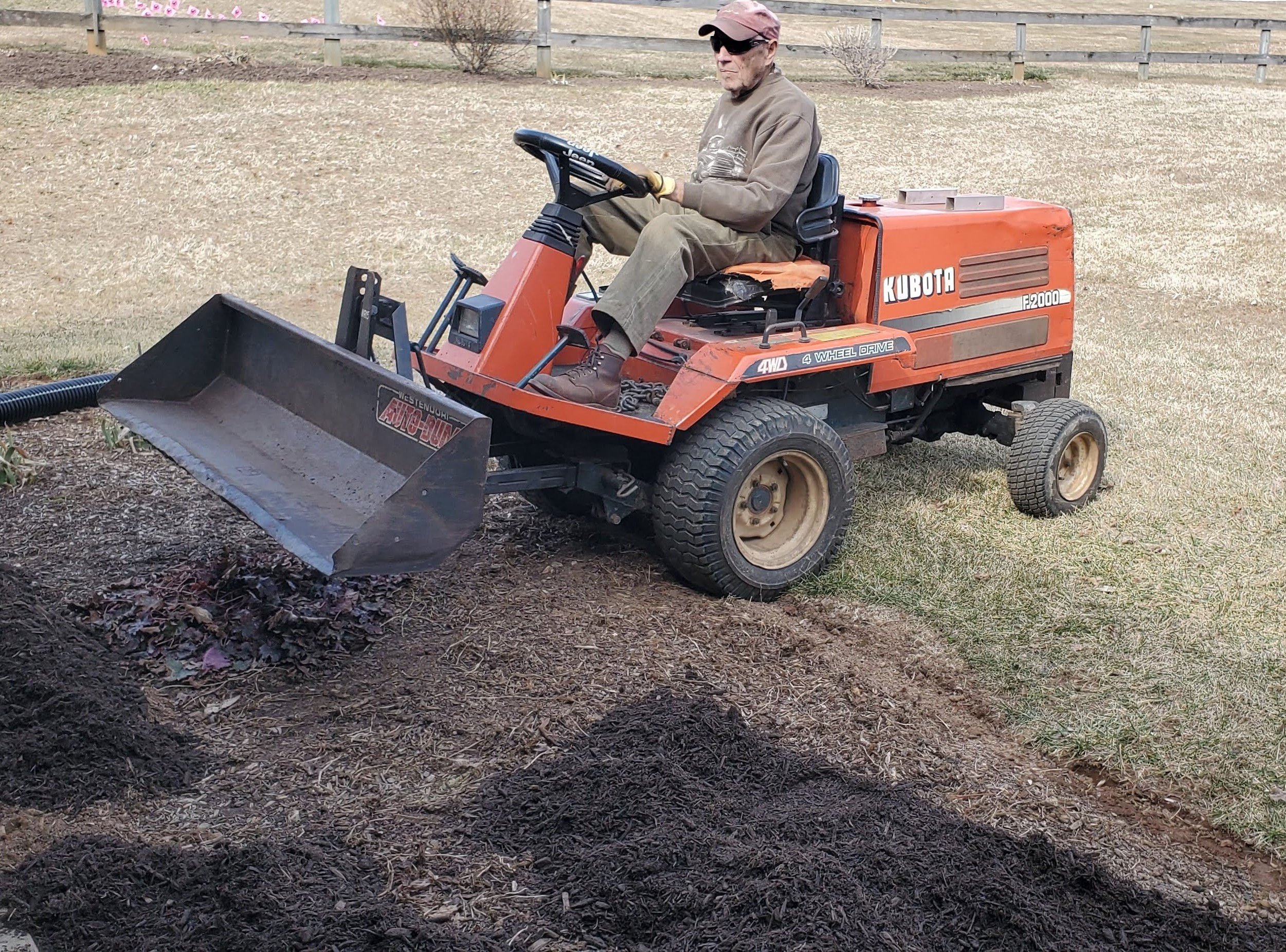help moving mulch with a small tractor