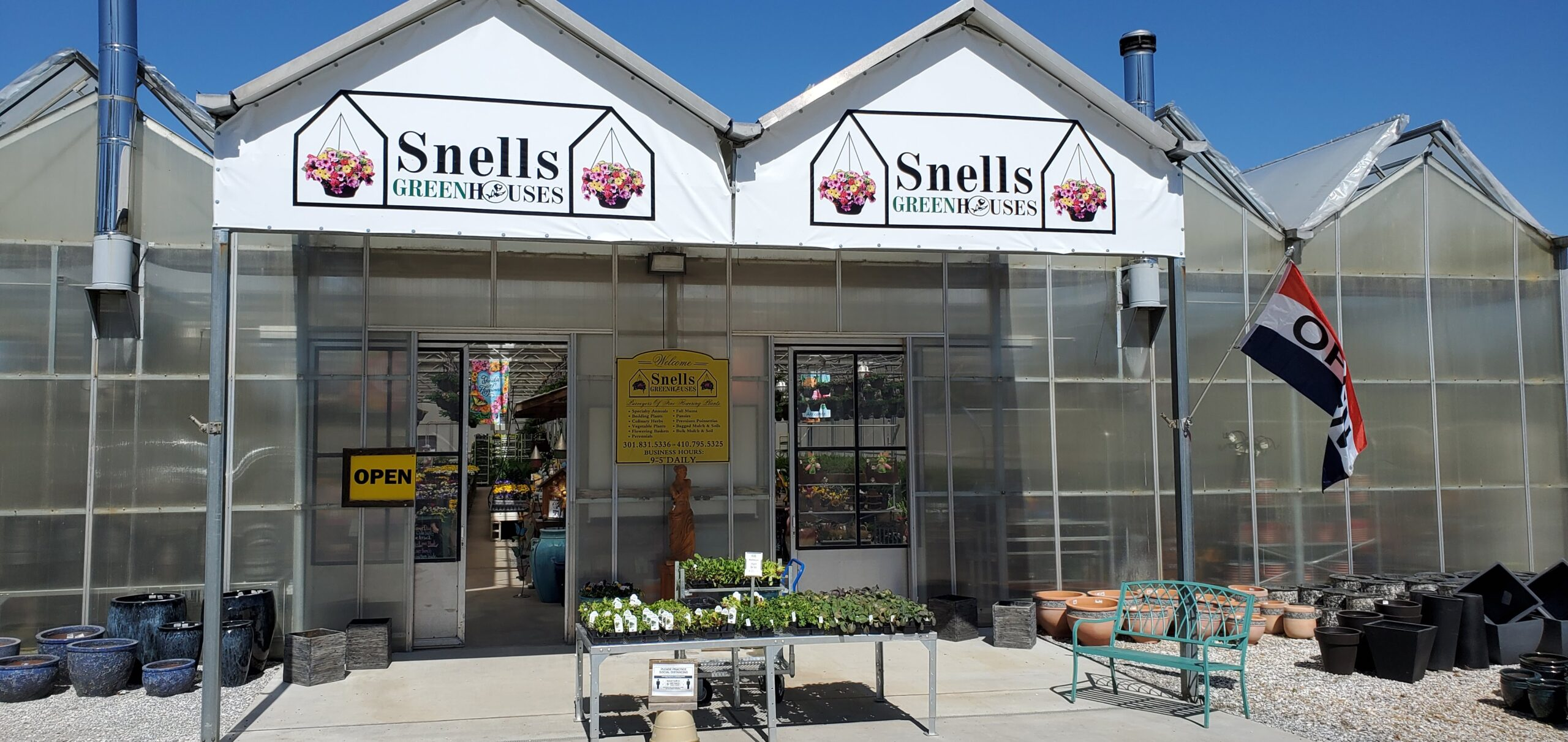Front Entrance Of Snell's Greenhouses