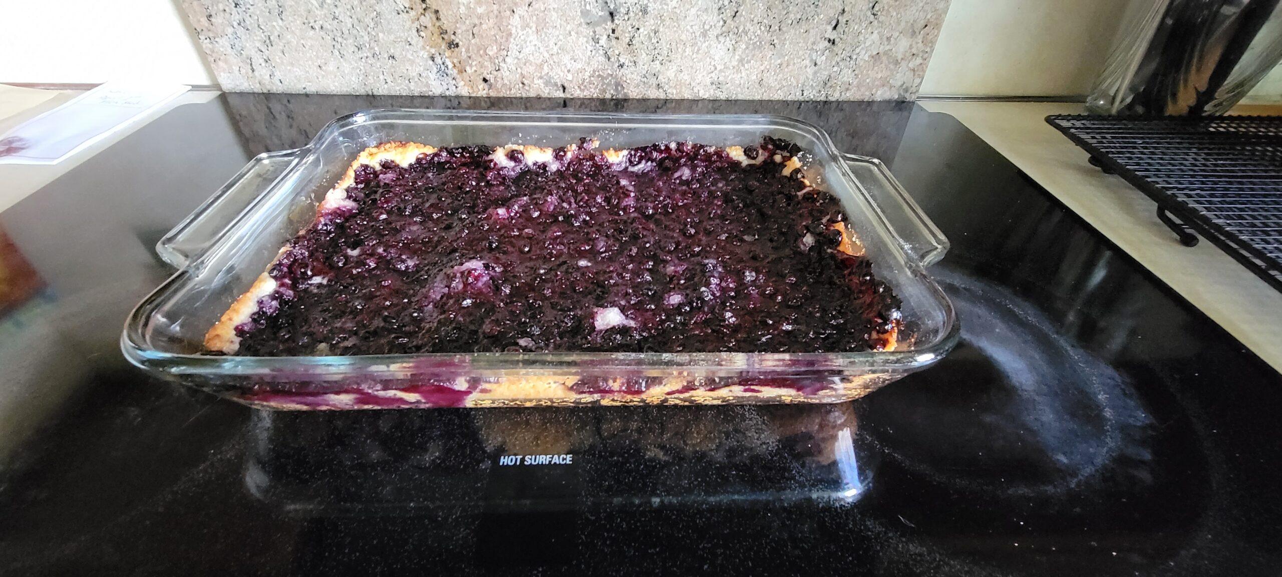 Texas Style Blueberry Cobbler