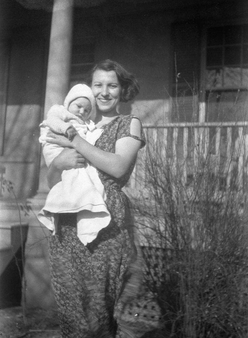 Rose Behnke With Her Son Albert H. Behnke