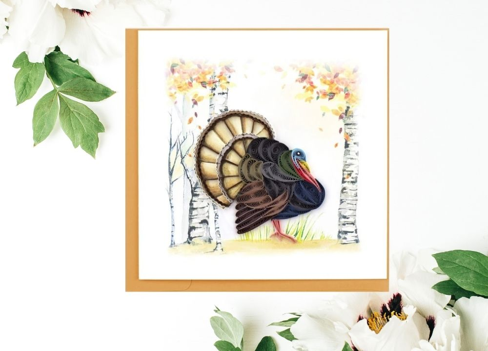 Quilling Card Turkey