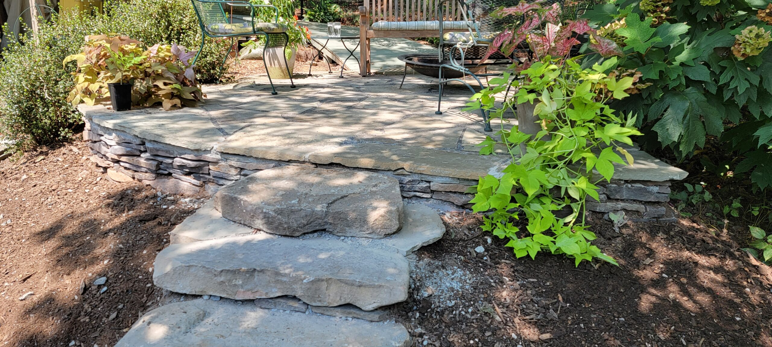 Large boulders leading up to Cantwell's New Firepit